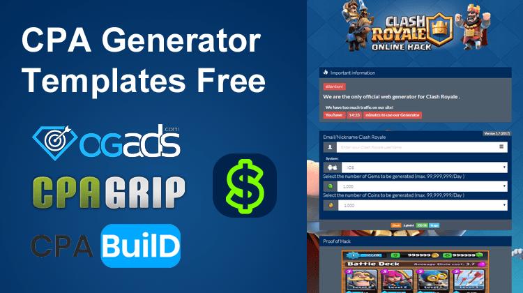 cpa generator landing page free