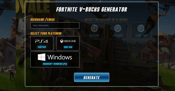 fortnite cpa generator landing page